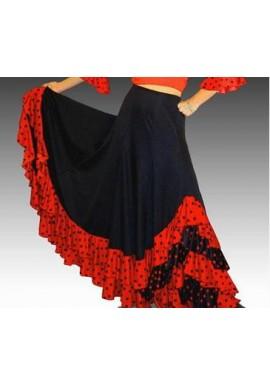 Falda Flamenca confeccionado en lycra elasticada con 3 volantes plato