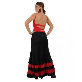 Falda Flamenco confeccionado en lycra elasticada con 4 volantes