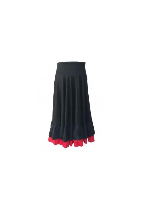 Falda Flamenca confeccionado en lycra elasticada con 2 volantes