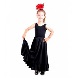 Falda Flamenco confeccionado en lycra elasticada con 2 volantes, Bodi aparte